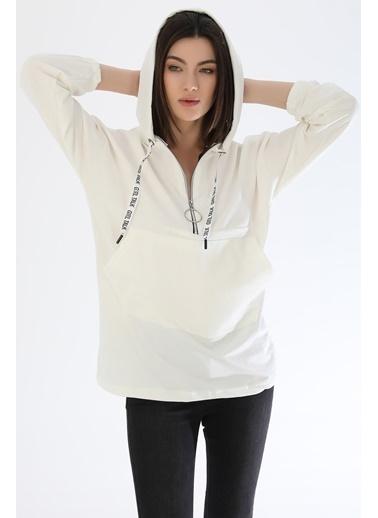 Emjey Sweatshirt Beyaz